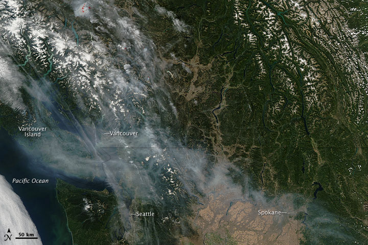 Smoke over the Pacific Northwest