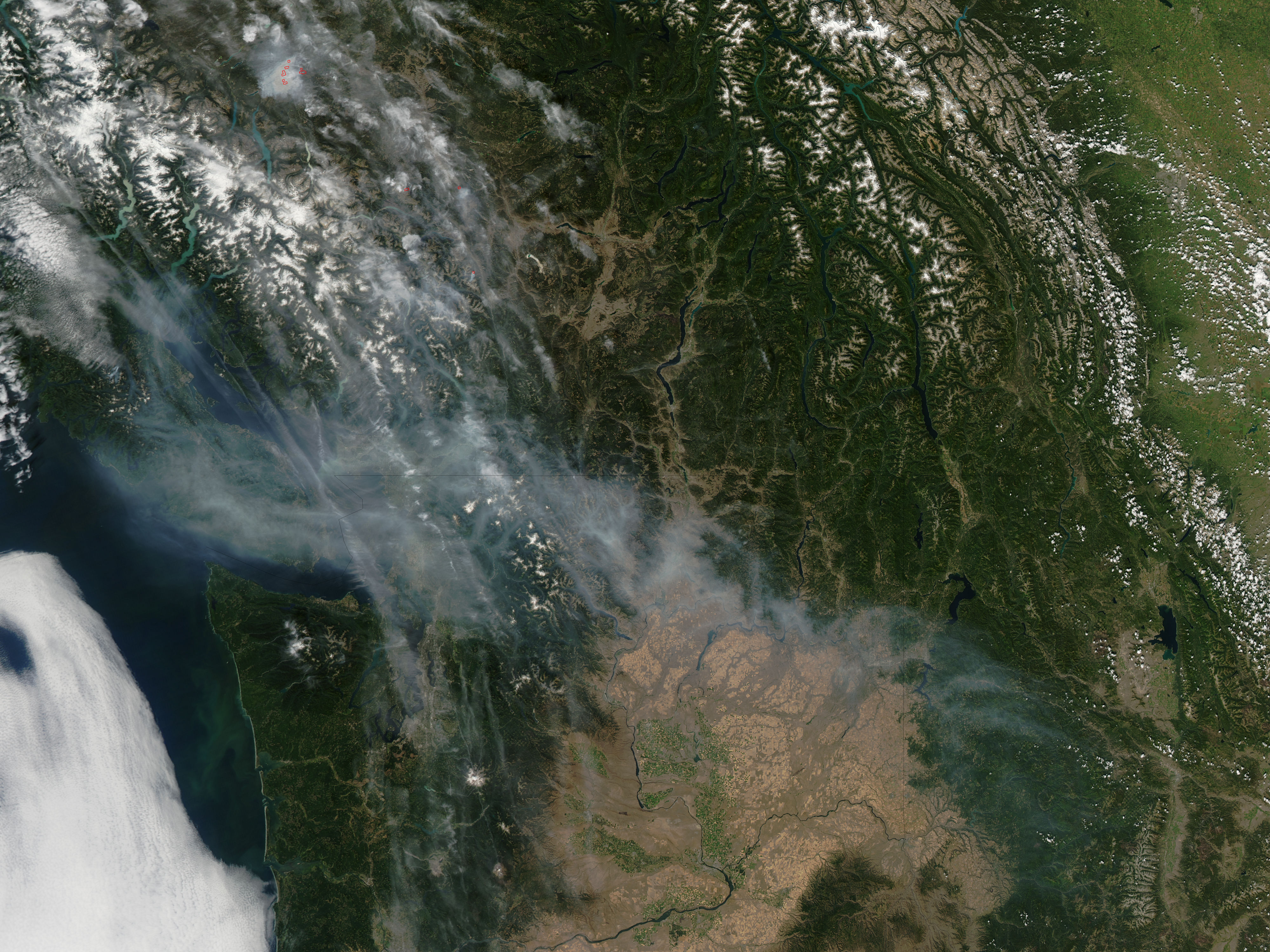 Smoke Over The Pacific Northwest Image Of The Day