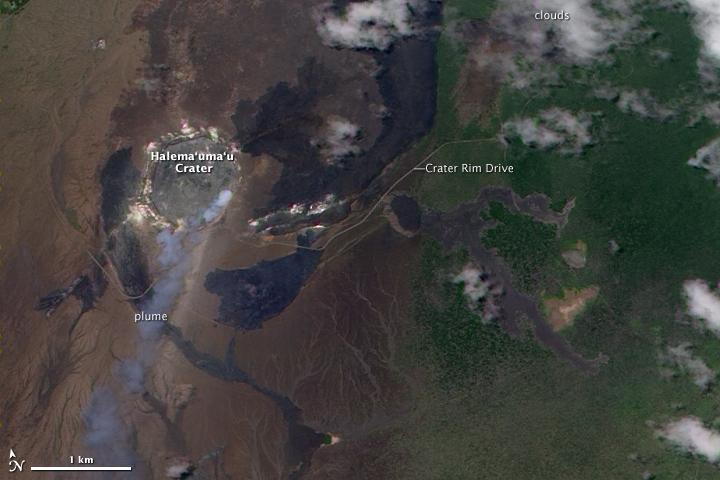 Plume from Kilauea's Halema'uma'u Crater