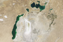 Aral Sea Continues to Shrink - selected image