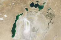 Aral Sea Continues to Shrink, August 2009