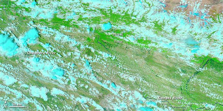 Floods along the India-Nepal Border