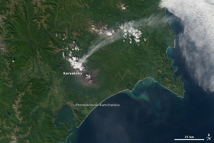 Activity at Koryaksky Volcano
