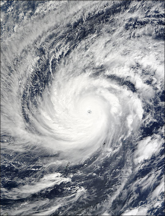 Super Typhoon Lupit West of the Philippines