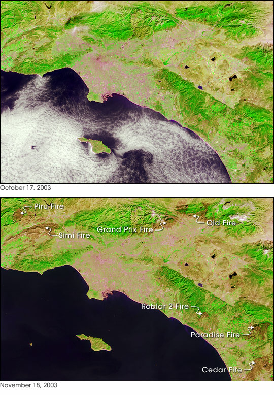 Burn Scars Across Southern California