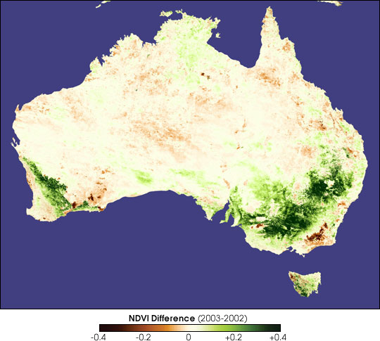Spring Rains Quench Australian Drought