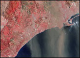 Airborne Dust and Ash over Southern California