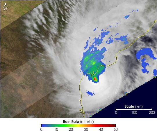 Tropical Cyclone Hits East Coast of India