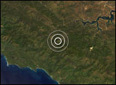 Earthquake near San Simeon, California