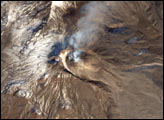 Crater of Bezymianny Volcano