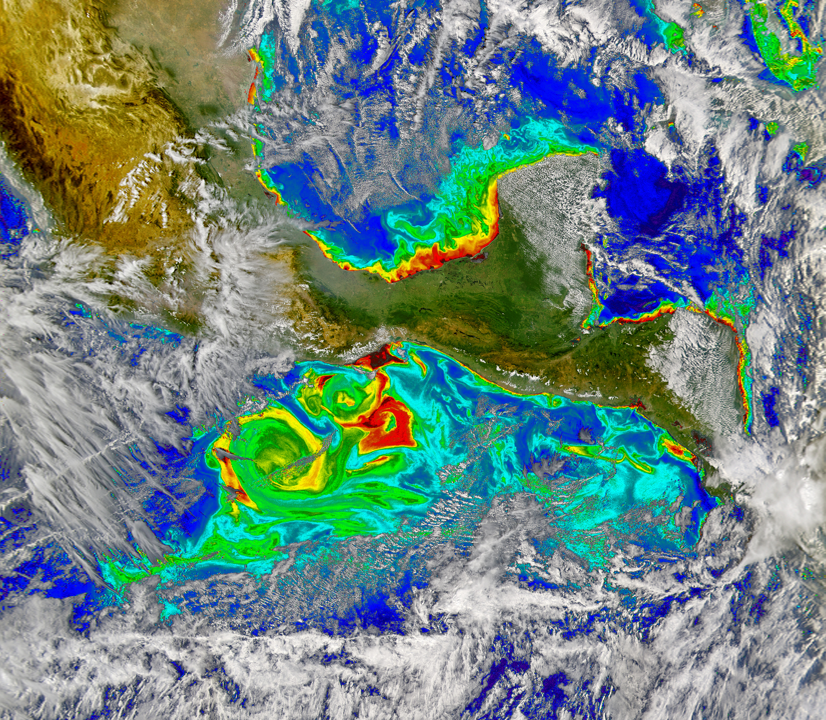 Tehuano Wind Colors the Ocean - related image preview