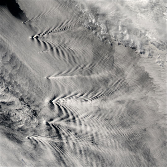 South Sandwich Island Cloud Wakes