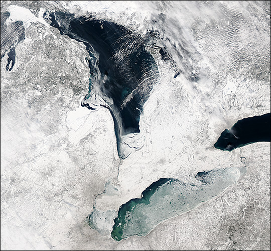 Ice on the Great Lakes