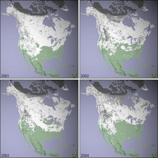 North American Snow Cover Image Of The Day: Map Of Snow Cover In North America At Usa Maps