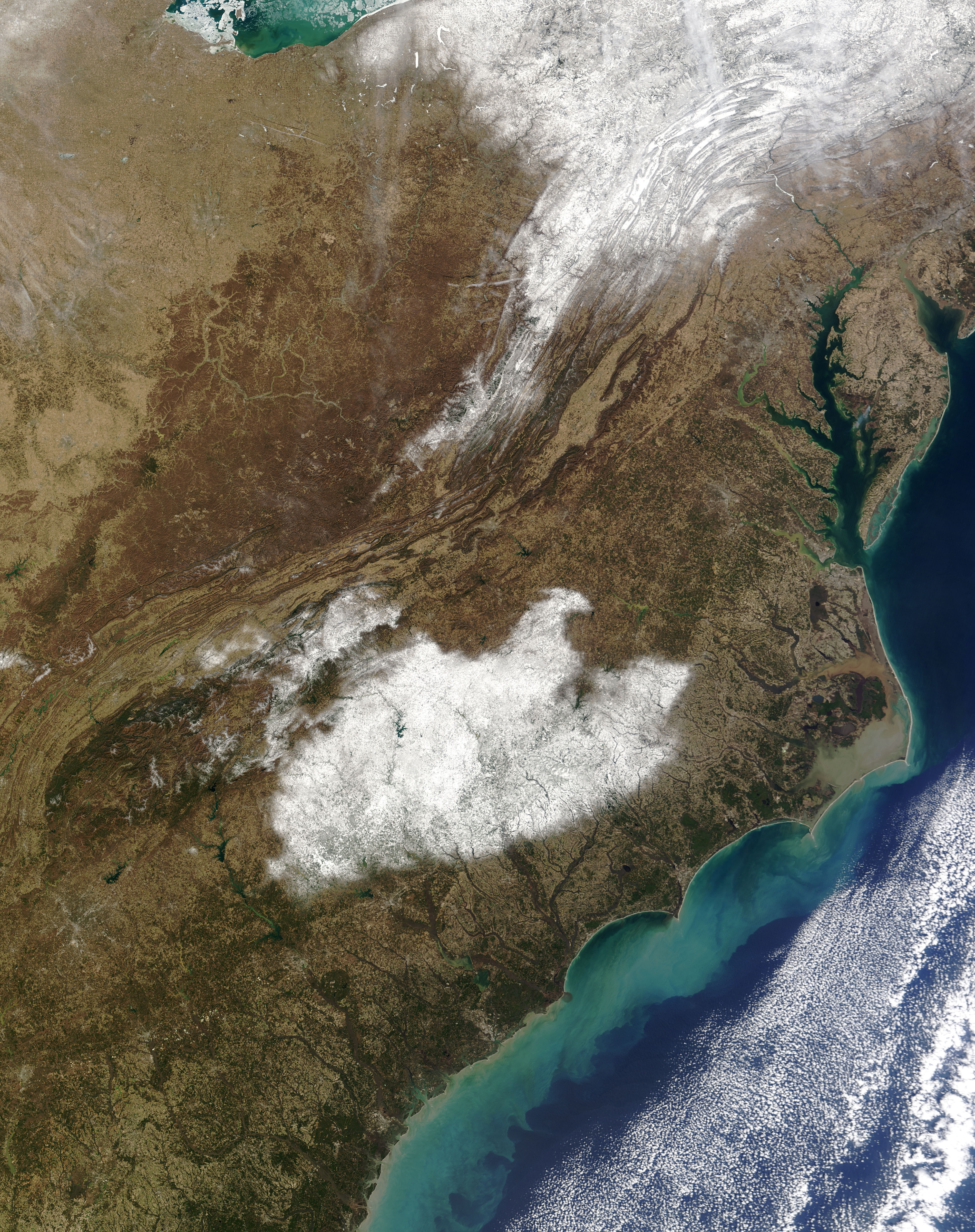 Snow Blankets North Carolina : Image of the Day