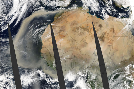 African Dust Blows over the Atlantic