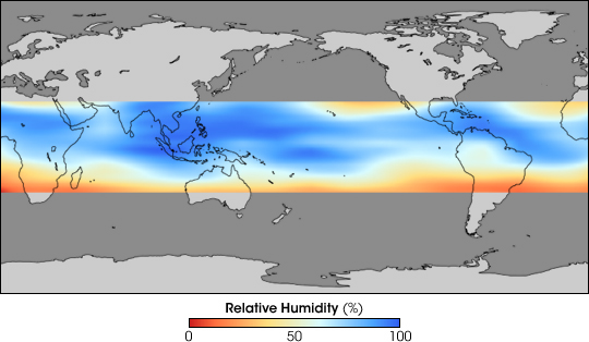 Humidity World Map.Relative Humidity In The Upper Troposphere
