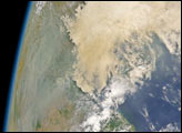 Smoke Spreads from Southeast Asia