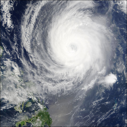 Typhoon Sudal off the Philippines