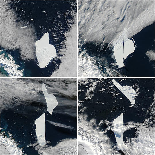 The A38-B Iceberg Splits