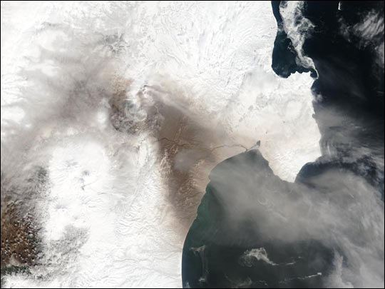 Eruption of Russia's Shiveluch Volcano