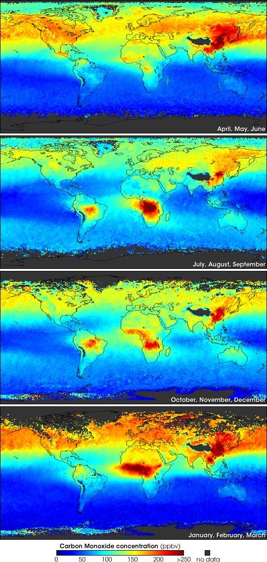 Seasonal Carbon Monoxide Measurements