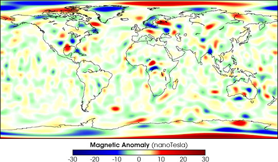 Earth's Surface Magnetism