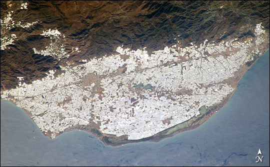 Greenhouses of the Campo de Dalías, Almería Province, Spain