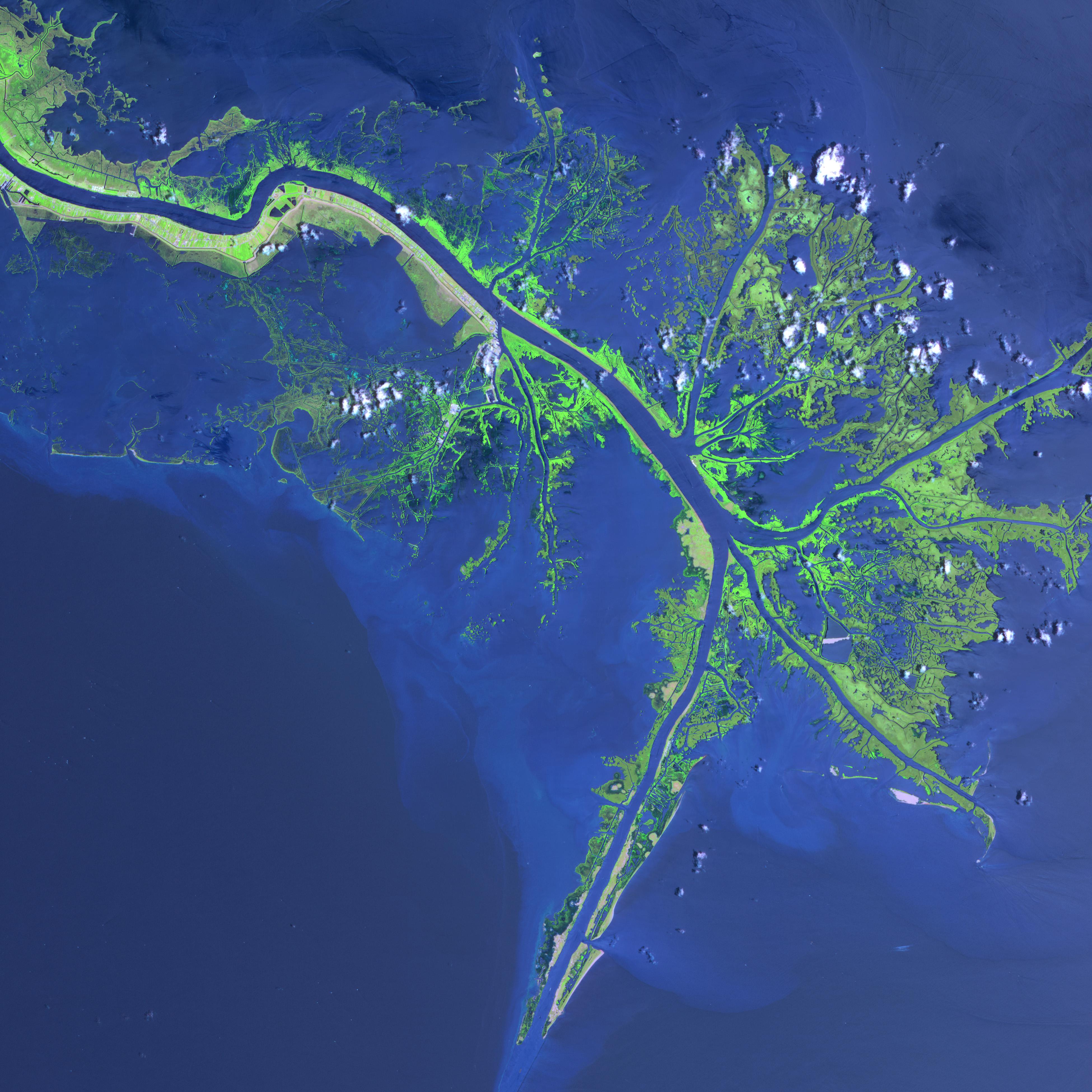 Mississippi River Delta Image Of The Day - Mississippi river delta map
