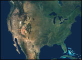 Natural Color Mosaic of North America