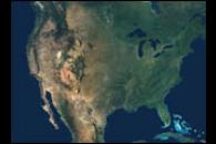 Natural Color Mosaic of North America