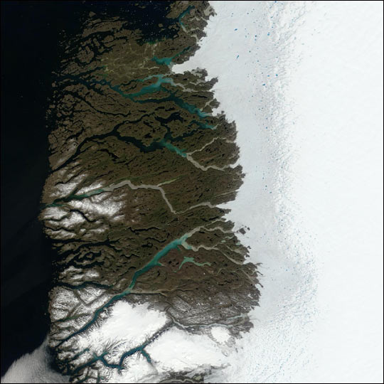 Melting Snow on Greenland