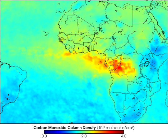 Carbon Monoxide from African Fires