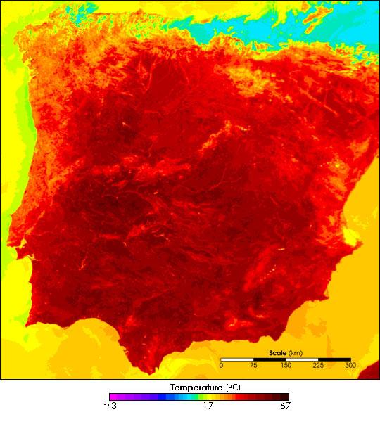 Summer Heatwave in Spain