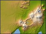 Topography of Olduvai Gorge, East Africa