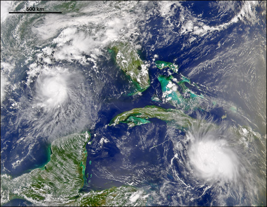 Tropical Storms Bonnie and Charley