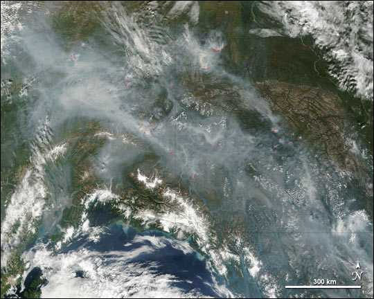 Forest Fires Affect Regional Air Quality