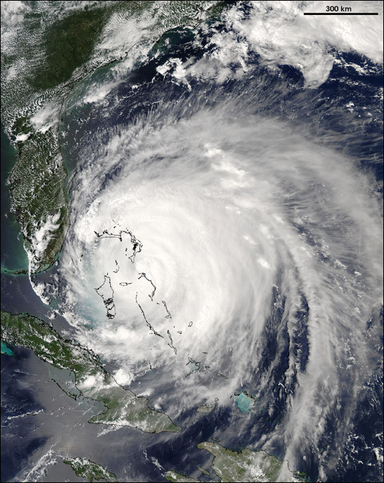 Hurricane Frances over the Bahamas