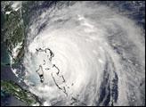 Hurricane Frances over the Bahamas