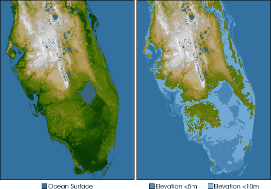Elevation of Southern Florida