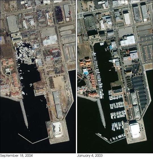Pensacola, Florida, after Hurricane Ivan