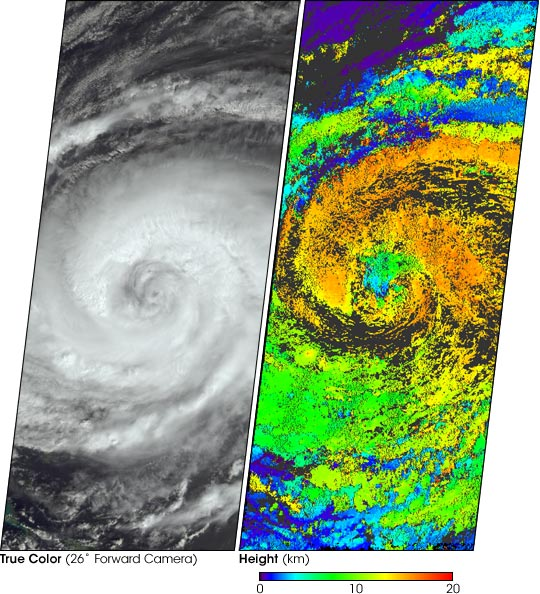 Hurricane Jeanne Cloud Height and Motion