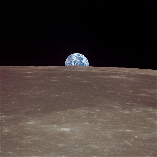 Earth from the Moon: A Different Perspective on the Harvest Moon