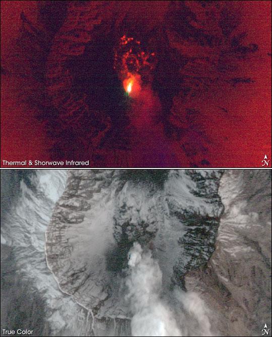 Lava on Mount Saint Helens