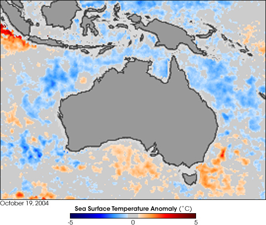 Sea Surface Temperature in Western Pacific