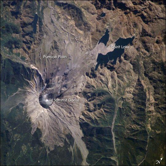 Steam Plume, Mount St. Helens