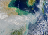 Pollution over China Blows out to Sea - selected image