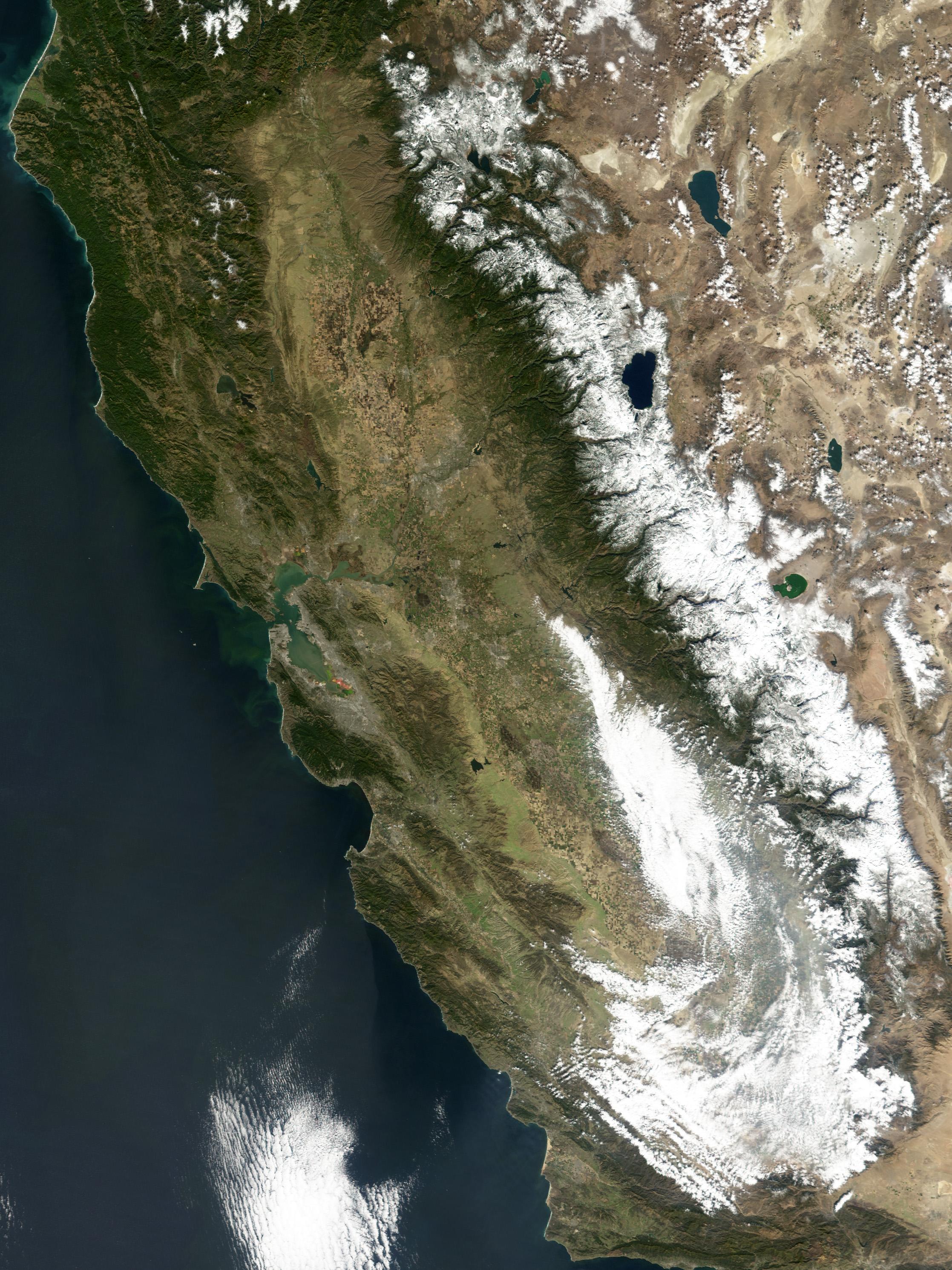 California Snow Map Heavy snowfall in California Sierras California Snow Map