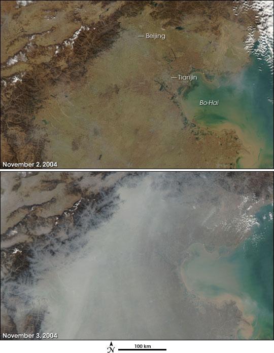 Haze Builds over Beijing