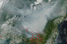 Fires and Smoke in Borneo